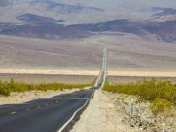 Death Valley National Park med sin ekstreme hede - Californien, USA