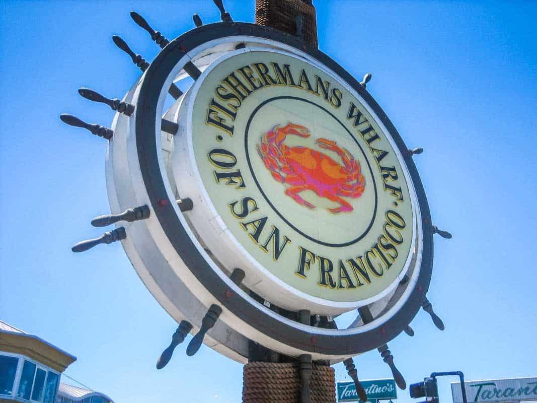 Fisherman's Wharf det livlige havneområde - San Francisco, USA