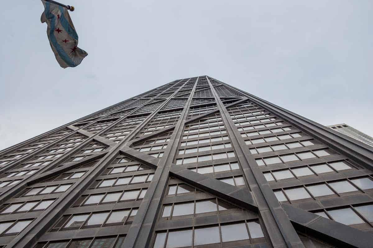 John Hancock Center giver smuk udsigt over byen - Chicago, USA