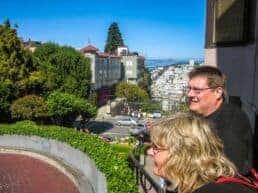 Lombard Street verdens mest snoede gade - San Francisco, USA