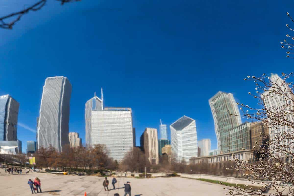 Millennium Park med bønnen - Chicago, USA
