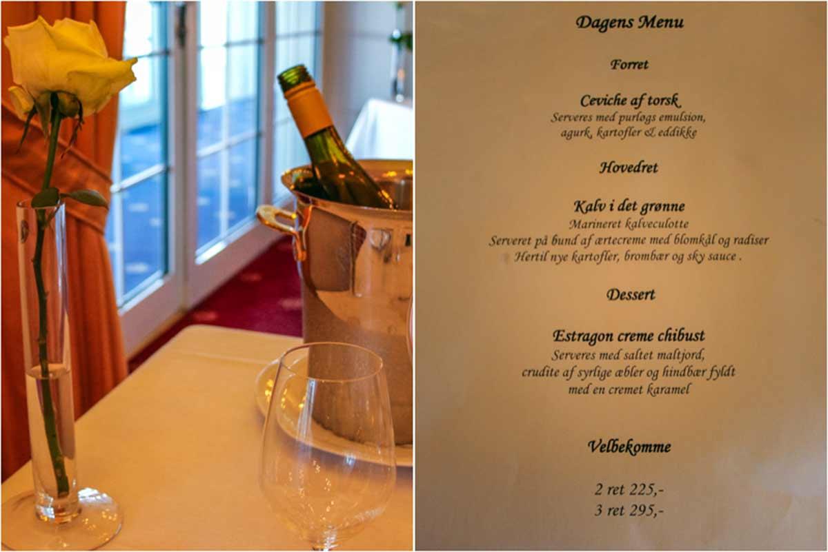 Anmeldelse af Restaurant Marienlyst – Helsingør, Danmark