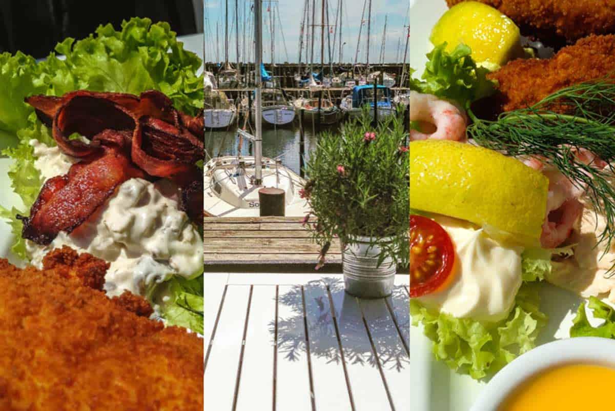 Frokost på Jenners Seaside – Mosede Havn ved Greve, Danmark