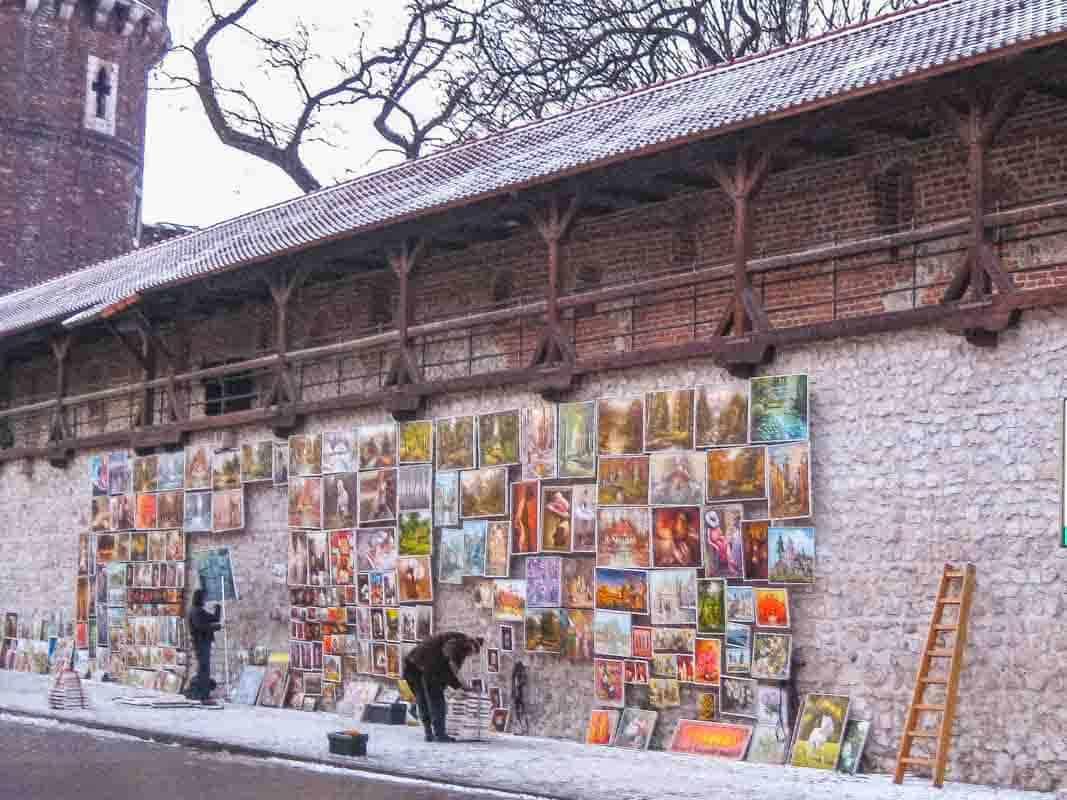 Krakow en smuk historisk by - Polen