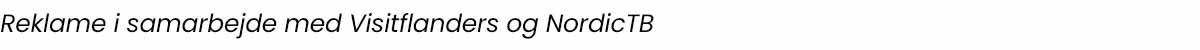 I samarbejde med Visitflanders og NordicTB