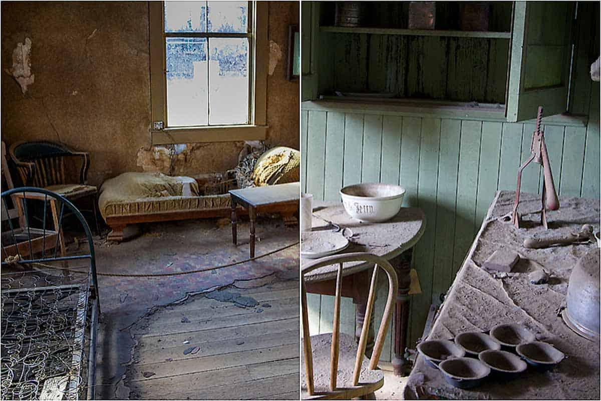 Bodie State Historic Park er en spøgelsesby - Californien, USA