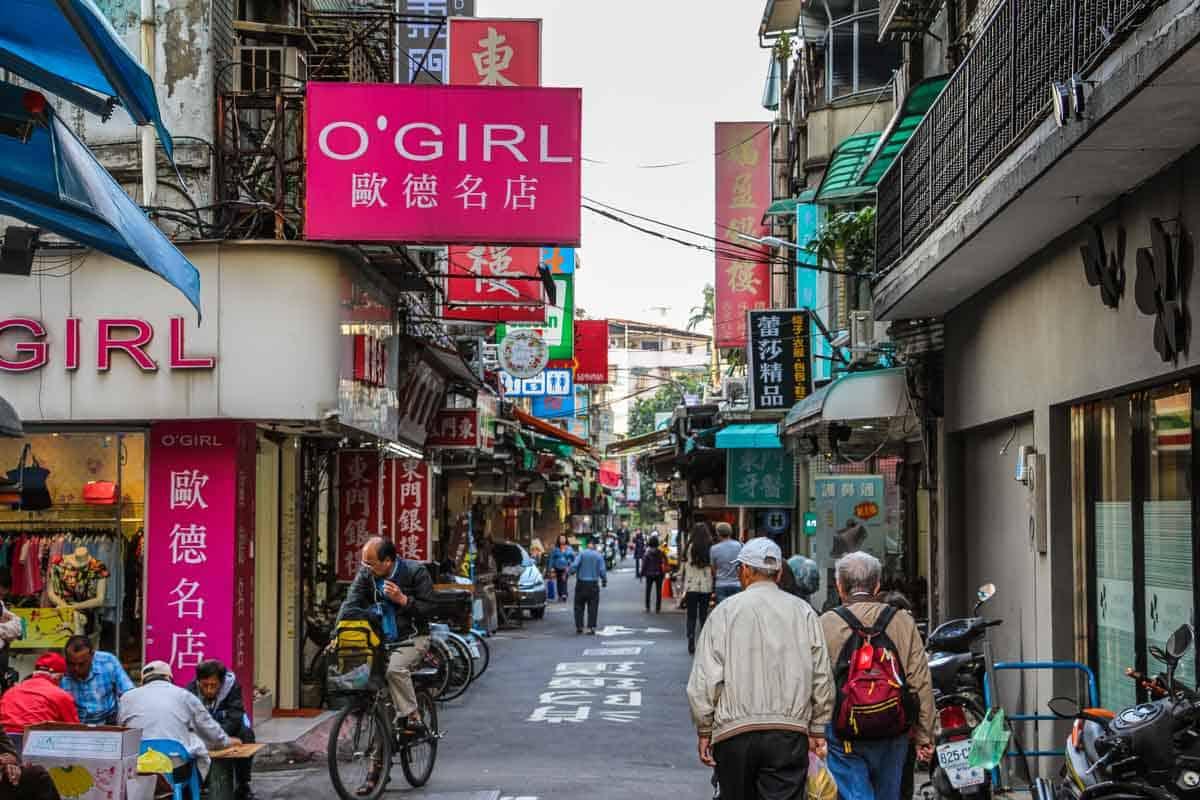 Vores gademarked sydede af gadekøkkener - Taipei, Taiwan
